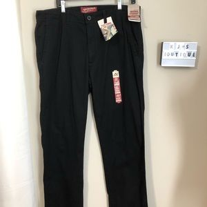 Arizona Jean Co. Black Chinos 36x34 NWT  k0108